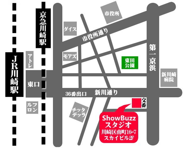 川崎レンタルスタジオ 貸しスタジオ ダンススタジオ アクセス マップ 行き方