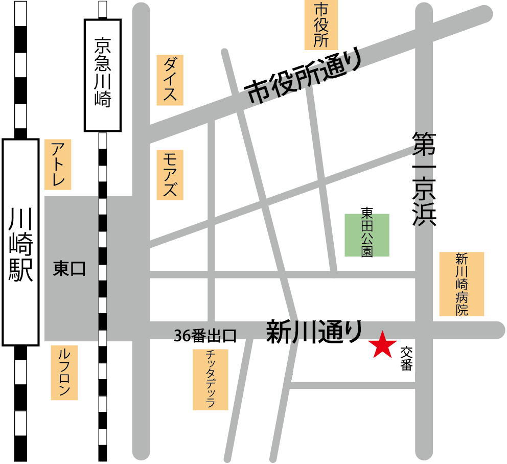 JR川崎駅より徒歩7分の川崎ShowBuzzスタジオ
