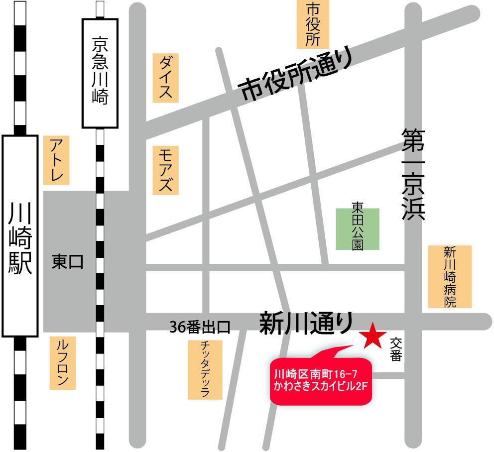 川崎ShowBuzz マップ 川崎 京浜東北線 東海道線 京急線