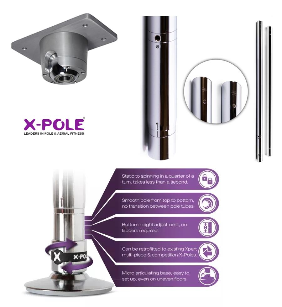 x-pole, ポールダンス教室 ,ポールダンス用ポール 組み立て方法, 川崎 レンタルスタジオ 備品