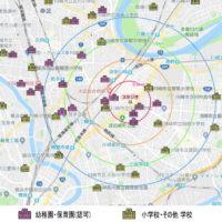 川崎 幼稚園 保育園 小学校 の MAP